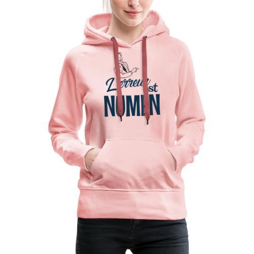 L erreur est Numen - Sweat-shirt à capuche Premium pour femmes