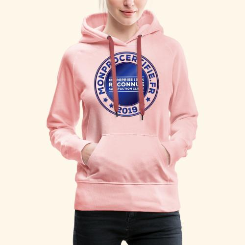 MONPROCERTIFIE - Sweat-shirt à capuche Premium pour femmes