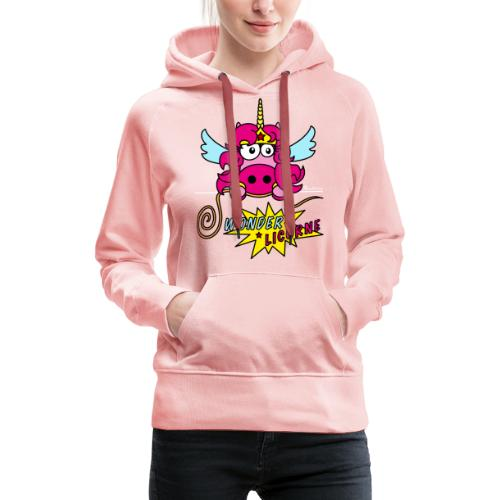 Licorne WT - Sweat-shirt à capuche Premium pour femmes