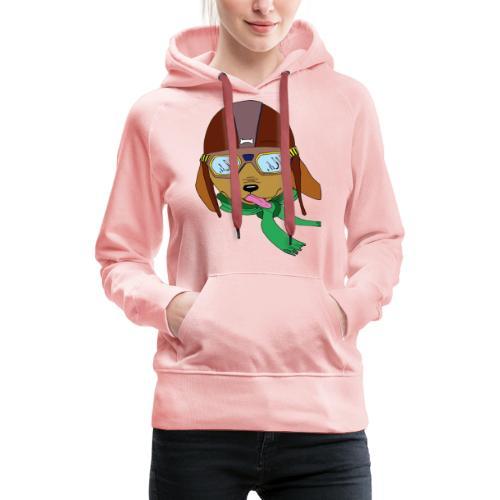 Falc le chien aviateur - Sweat-shirt à capuche Premium pour femmes
