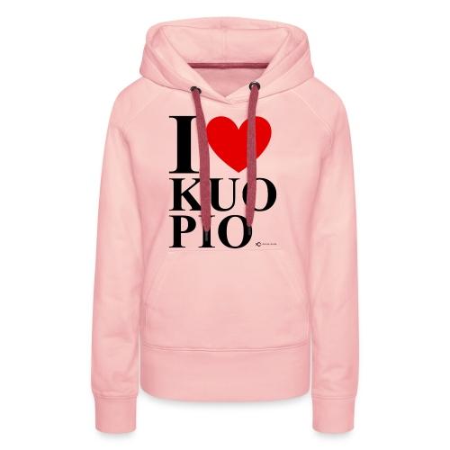 I LOVE KUOPIO ORIGINAL (musta) - Naisten premium-huppari