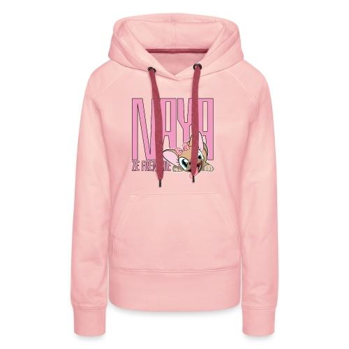 NAYA ZE FRENCHIE Logo - Sweat-shirt à capuche Premium pour femmes