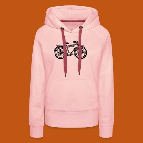 Beach Cruiser Fahrrad 01_schwarz - Frauen Premium Hoodie