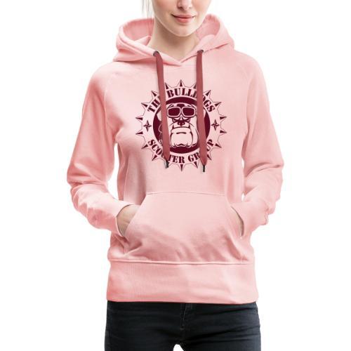 Bulldogs Scooter Group Logo-Black - Sweat-shirt à capuche Premium pour femmes