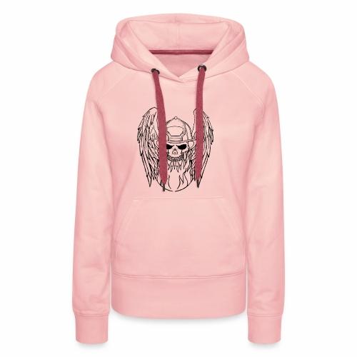 skull angel 2 - Sweat-shirt à capuche Premium pour femmes