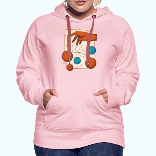 Planets On A String - Women's Premium Hoodie
