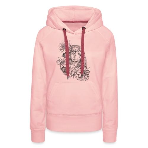 Dahlien Cavalier - Frauen Premium Hoodie