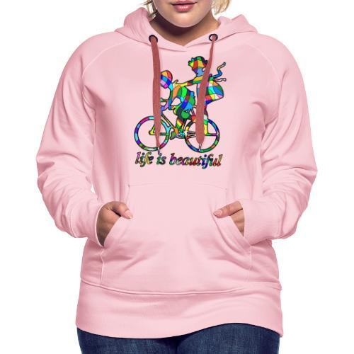 Life is beautiful - Frauen Premium Hoodie