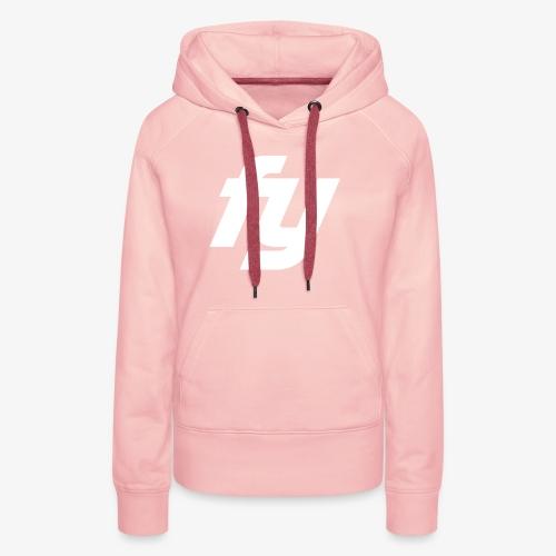 Logo Trendy Weiss - Frauen Premium Hoodie