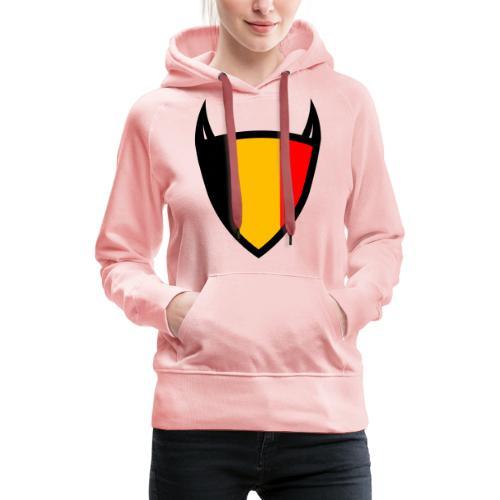 Diable du bouclier national belge - Sweat-shirt à capuche Premium pour femmes