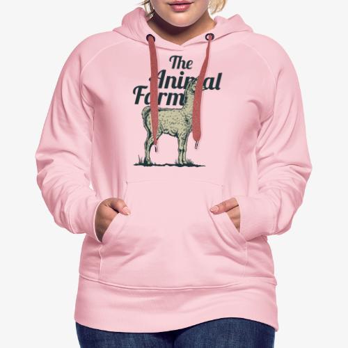 Lama - Sweat-shirt à capuche Premium pour femmes