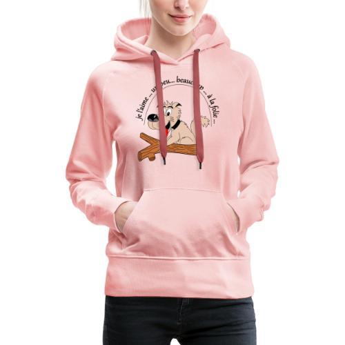 Chien à la folie - Sweat-shirt à capuche Premium pour femmes