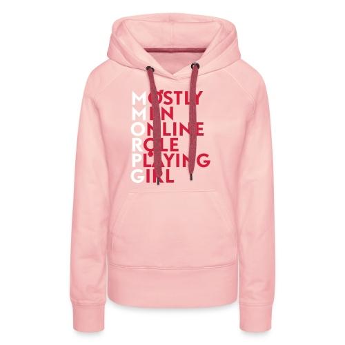 Accronyme MMORPG - Sweat-shirt à capuche Premium pour femmes