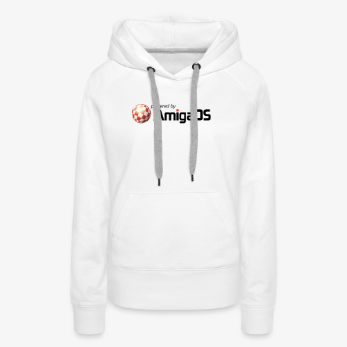 PoweredByAmigaOS Black - Women's Premium Hoodie