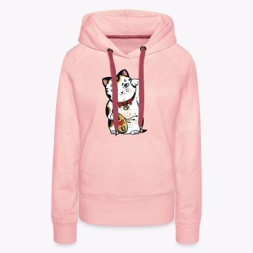 Love Lucky Cat - Women's Premium Hoodie