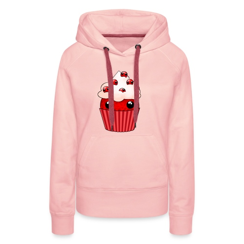 kawaii cupcake cranberry - Women's Premium Hoodie