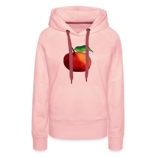 mela-png - Felpa con cappuccio premium da donna