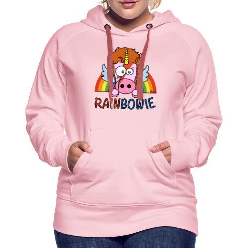 Licorne RainBow Bowie - Sweat-shirt à capuche Premium pour femmes