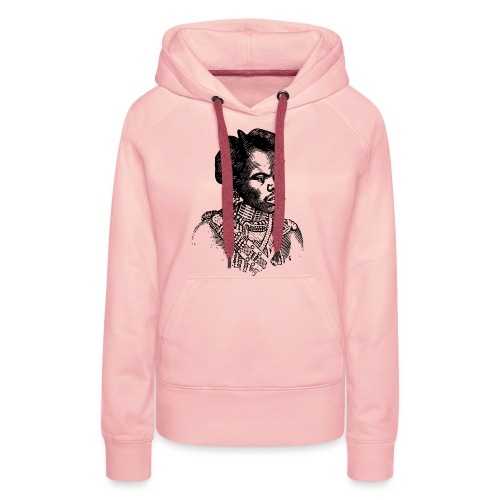 zulu man png - Sweat-shirt à capuche Premium pour femmes
