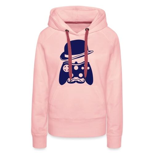 manette chapeau melon moustache personna - Sweat-shirt à capuche Premium pour femmes