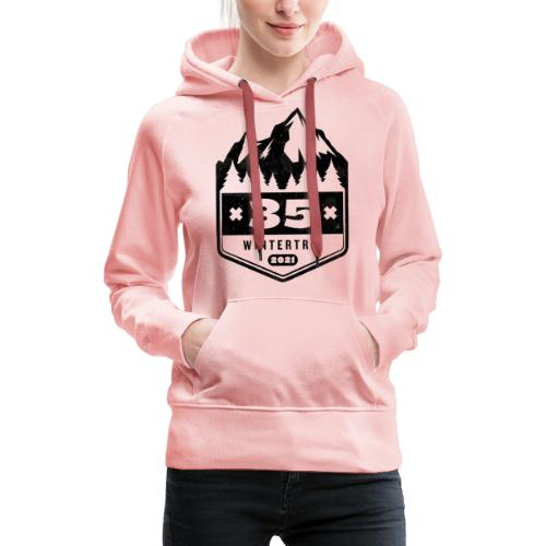 35 ✕ WINTERTRIP ✕ 2021 • BLACK - Vrouwen Premium hoodie