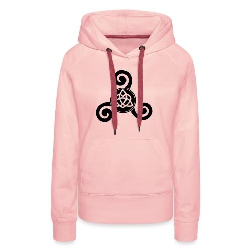 polytriskel 1b - Sweat-shirt à capuche Premium pour femmes