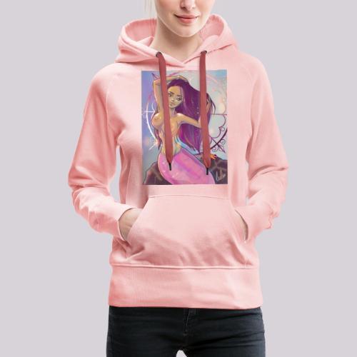 Havfrue - Dame Premium hættetrøje