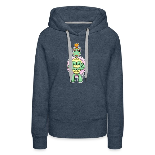 Girlie Turtle/ Schildkröte - Frauen Premium Hoodie