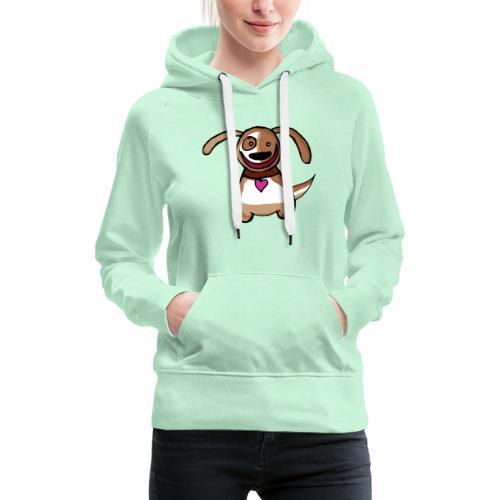 Titou le chien - Sweat-shirt à capuche Premium pour femmes
