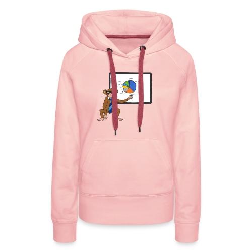 Aap houdt presentatie - Vrouwen Premium hoodie