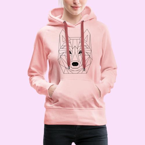 Wolf Gesicht Illustrator Design - Frauen Premium Hoodie