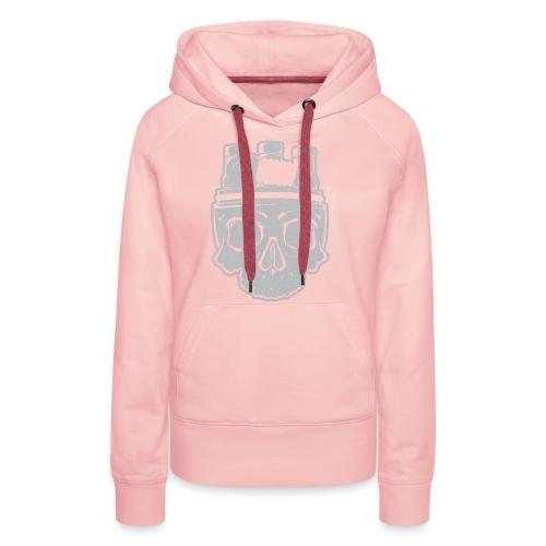 VAPE SKULL - Bluza damska Premium z kapturem
