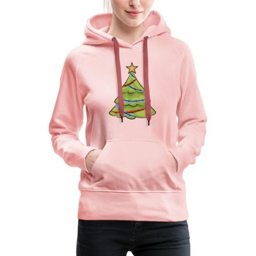 Christmas tree, tree, christmas, new year - Women's Premium Hoodie