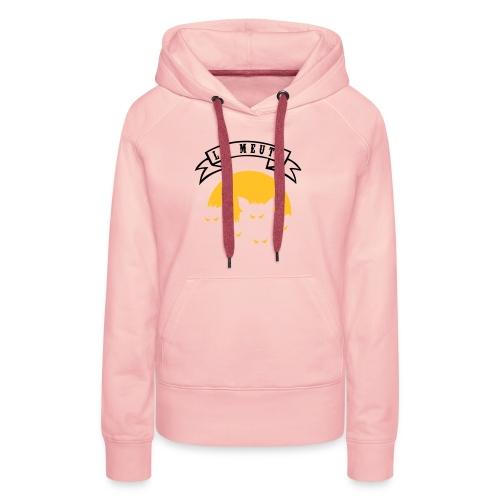 la meute - Sweat-shirt à capuche Premium pour femmes