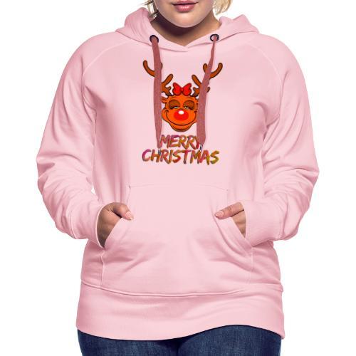 Rudolph weiblich - Frauen Premium Hoodie