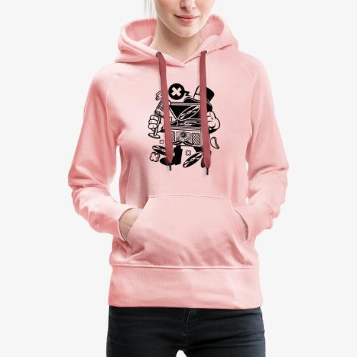 Platine vinyle classique - Sweat-shirt à capuche Premium pour femmes