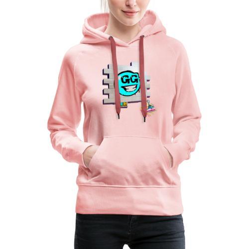 logo emoji - Sudadera con capucha premium para mujer