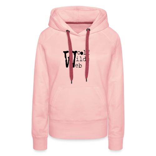 Camiseta Woolf Wilde Web - Sudadera con capucha premium para mujer