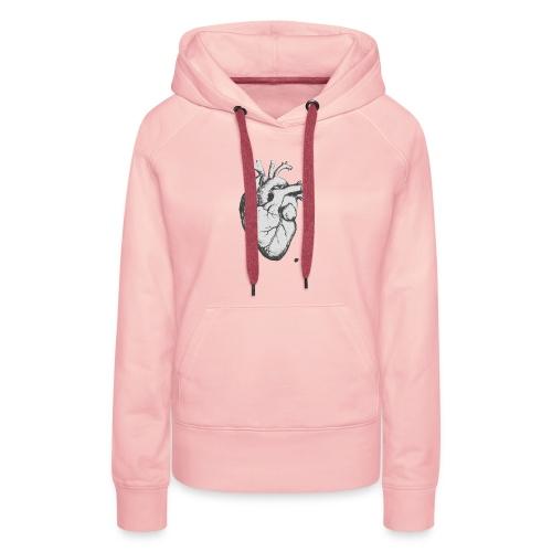 coeurhumain - Sweat-shirt à capuche Premium pour femmes
