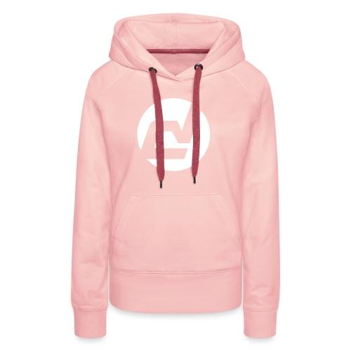 logo blanc - Sweat-shirt à capuche Premium pour femmes