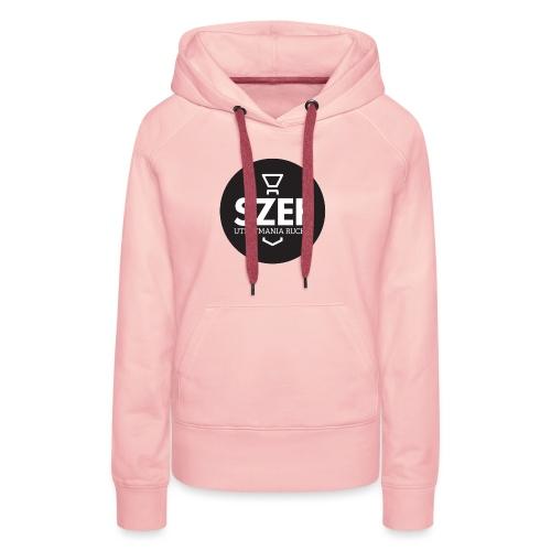 Logo-szef-utrzymania-ruchu_ok_net_black - Bluza damska Premium z kapturem