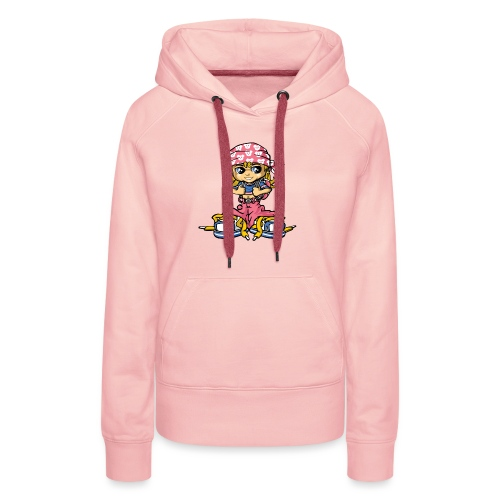hip-hop girl and bandana - Frauen Premium Hoodie