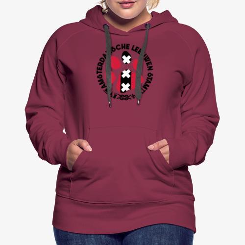 ALS witte cirkel lichtshi - Vrouwen Premium hoodie