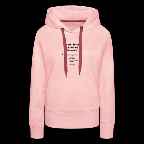 Social distancing black - Vrouwen Premium hoodie