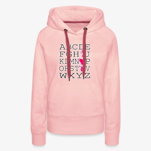Liebesalphabet - Frauen Premium Hoodie