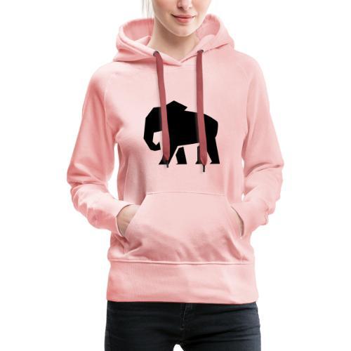 Schwarzer Elefant - Frauen Premium Hoodie