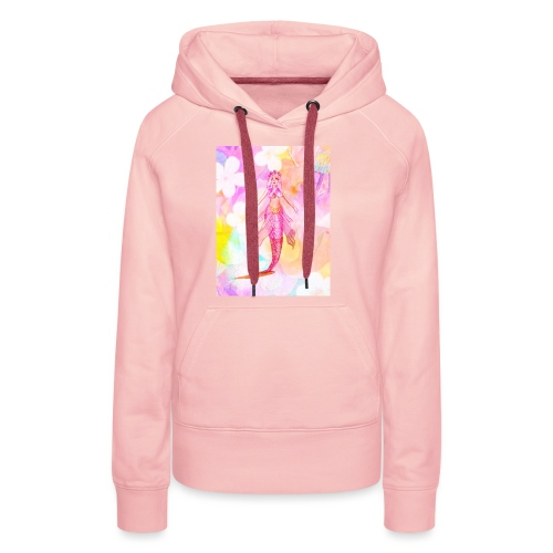 ®La Sirène de Fleurs (The Flower Mermaid) - Women's Premium Hoodie