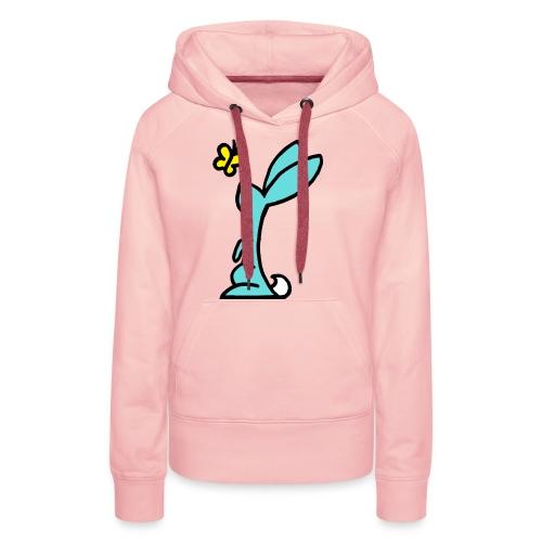 Kaninchen mit Schmetterling - Frauen Premium Hoodie
