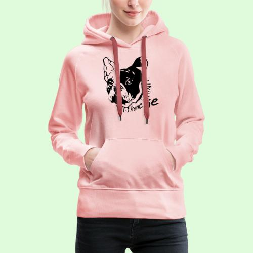 Frenchie - Sweat-shirt à capuche Premium pour femmes