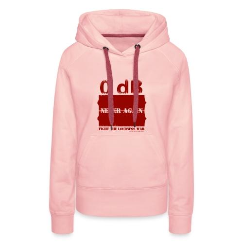Fight the Loudness War (Red) - Sweat-shirt à capuche Premium pour femmes